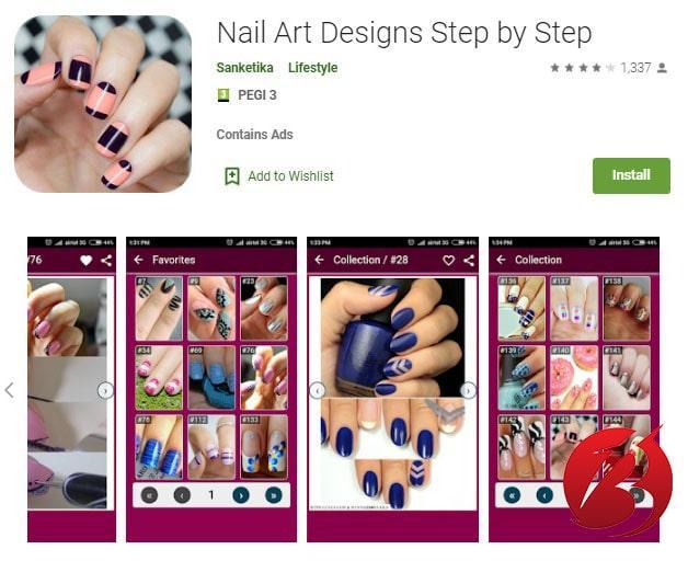 برنامه Nail Art Designs Step by Step