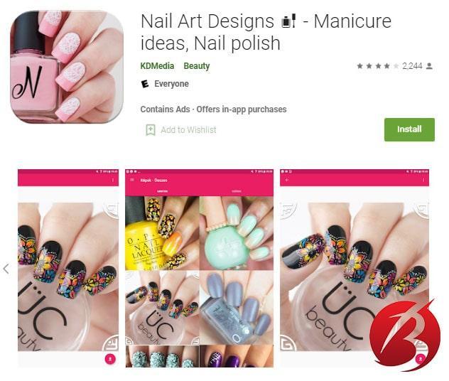 برنامه Nail Art Designs