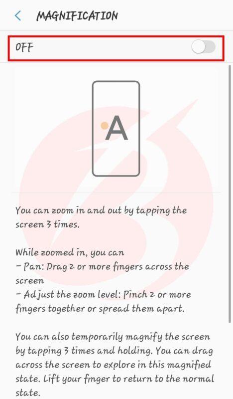 تنظیمات گوشی اندوریدی برای حل بزرگ نمایی گوشی موبایل