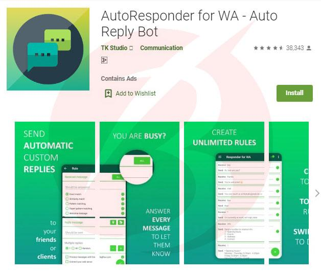افزونه های واتس اپ کروم - افزونه Auto Responder