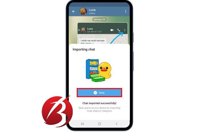 انتقال چت و داده های واتس اپ به تلگرام