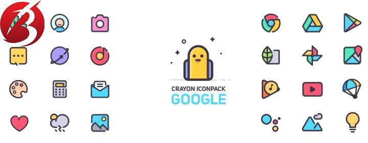 آیکون پک اندروید - Crayon