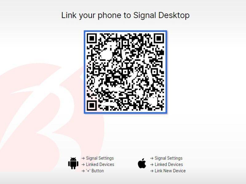 نصب سیگنال روی ویندوز با QR کد