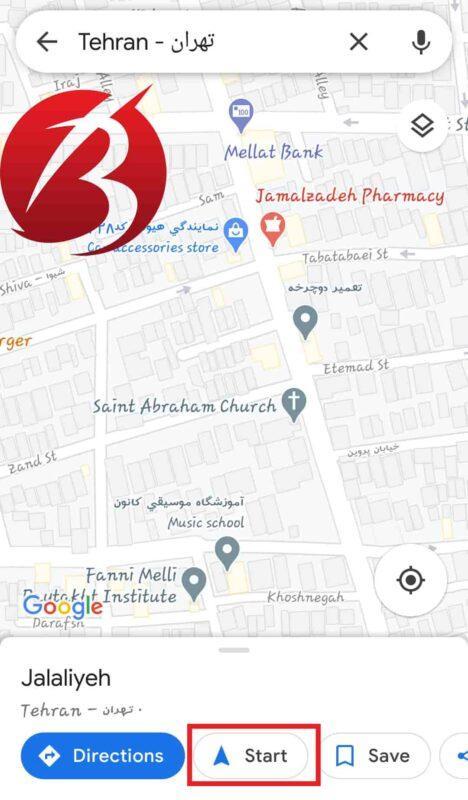 قابلیت مسیریابی گوگل مپ و استفاده از آن