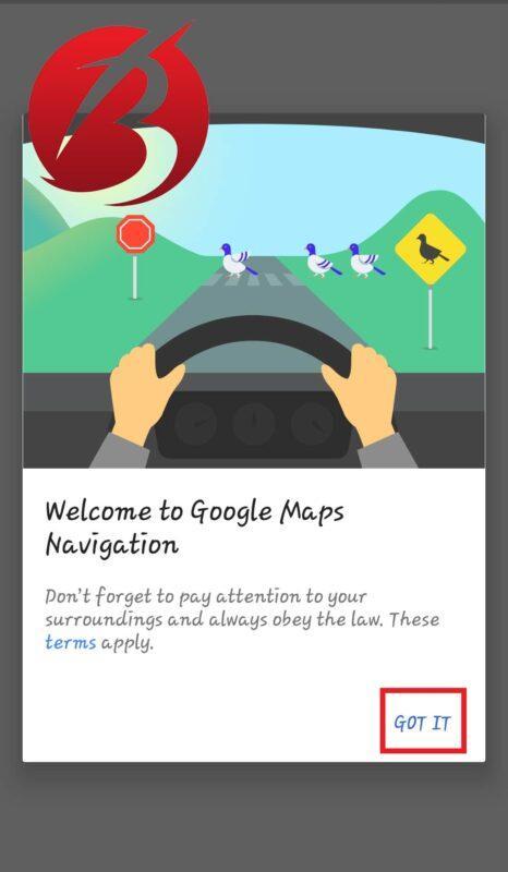 مسیر یابی با اپلیکیشن گوگل مپ