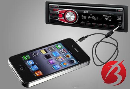 اتصال گوشی به ضبط ماشین با کابل AUX