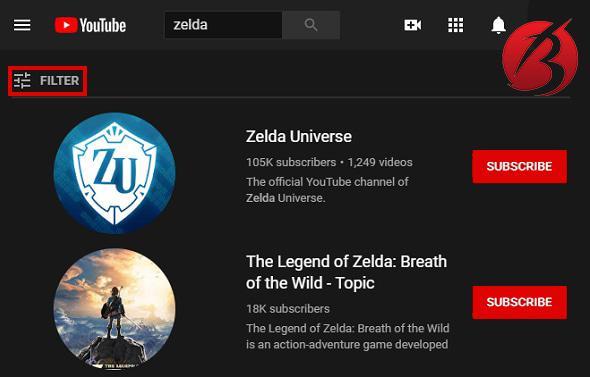 جستجو در یوتیوب - روش های جستجو سریع