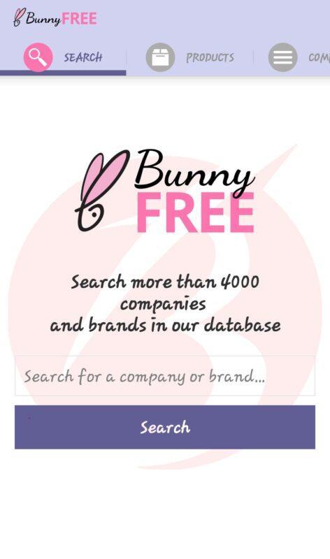 برنامه شناسایی برند های بدون تست حیوانی - نحوه استفاده از برنامه بانی فری