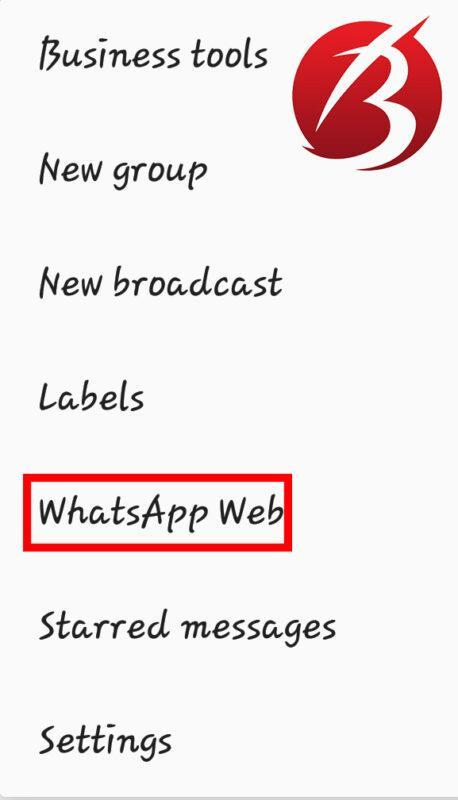 خروج از واتس اپ در نسخه وب