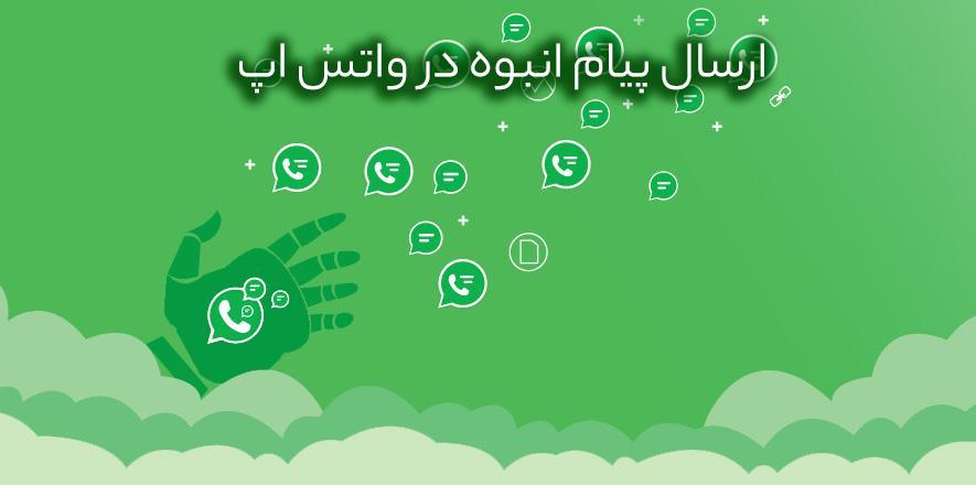 ارسال پیام انبوه در واتس اپ - وب سایت برتر رایانه