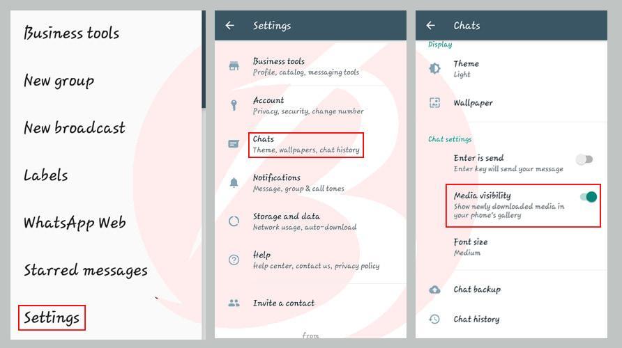 جلوگیری از ذخیره خودکار تصاویر واتس اپ در گالری در اندروید