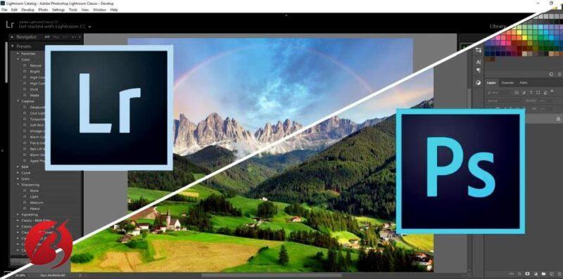 نرم افزار ادیت عکس لایت روم مقایسه با فتوشاپ