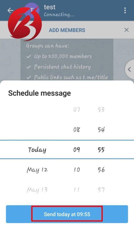 روش های زمان بندی پیام در تلگرام
