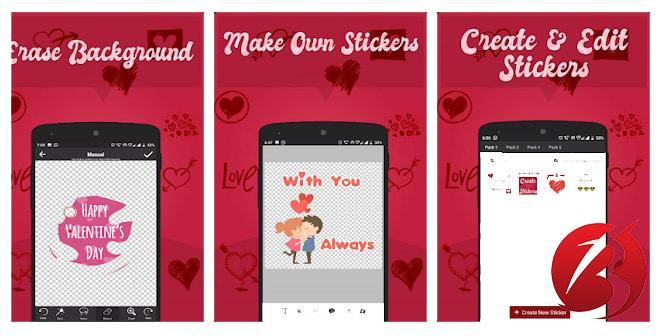 معرفی برنامه Sticker Create