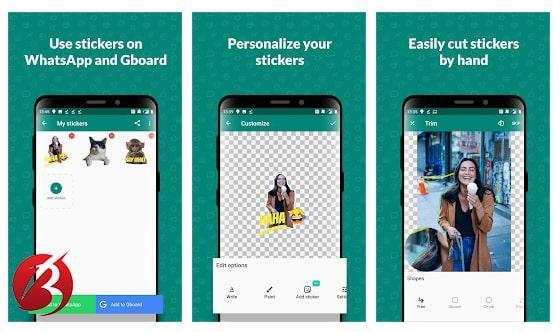 معرفی برنامه Sticker Studio