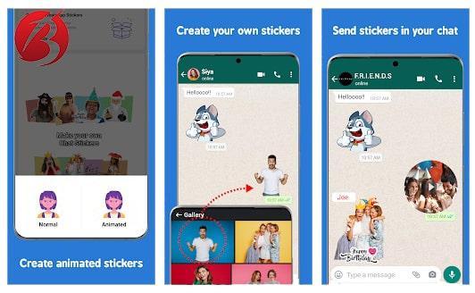معرفی برنامه Sticker Maker by Stackify