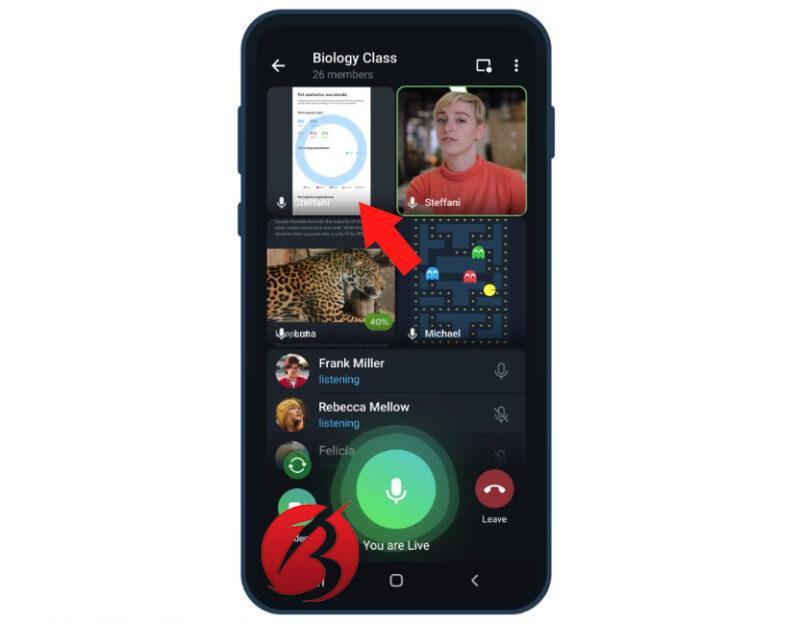 بررسی قابلیت تماس ویدیویی در شبکه اجتماعی تلگرام