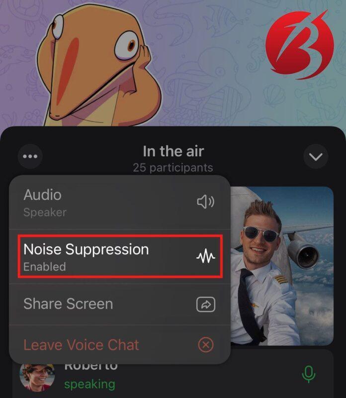 حذف نویز در گفتگو صوتی تلگرام