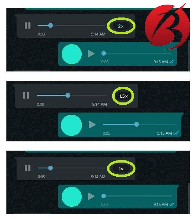 تغییر سرعت ویس در واتس اپ - افزایش سرعت پیام صوتی
