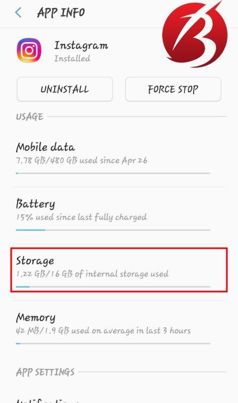 رفع مشکل ارسال نشدن پست و استوری در اینستاگرام - پاک کردن فایل کش اینستاگرام