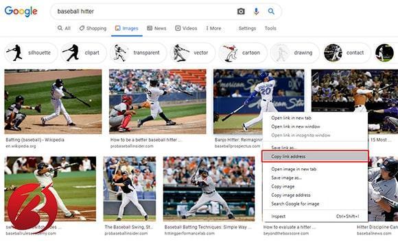 حذف عکس از نتایج جستجوی گوگل - کپی کردن لینک تصویر