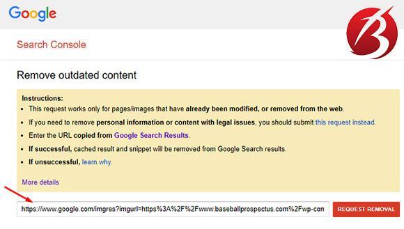 حذف عکس از نتایج جستجوی گوگل - درخواست برای حذف تصویر