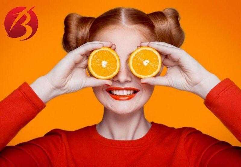 ادیت عکس با تم تابستانی در گوشی موبایل - ادیت پرتقالی