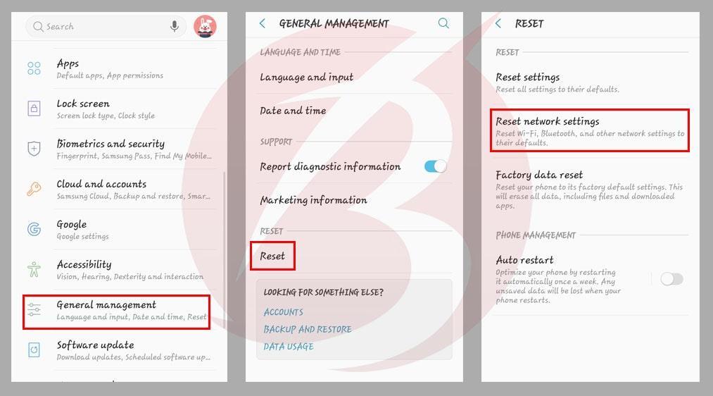 حل ارور Mobile Network Not Available در گوشی های اندروید با ریست کردن تنظیمات شبکه