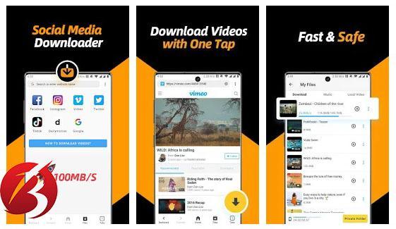 اپلیکیشن های دانلود ویدیو از شبکه های اجتماعی - برنامه Universal Downloader