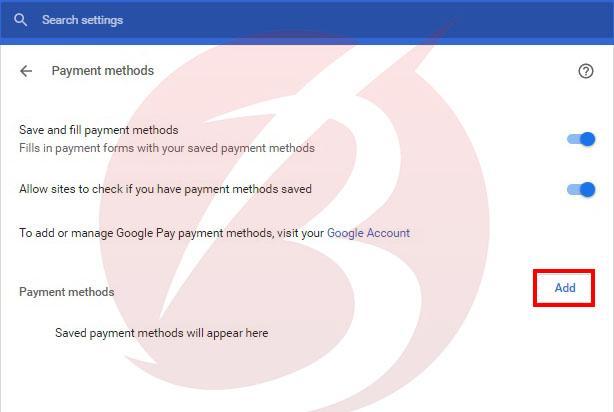 اضافه کردن آدرس و کارت بانکی در کروم