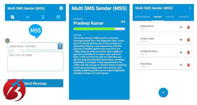معرفی برنامه Multi SMS Sender