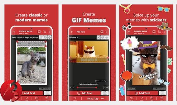معرفی برنامه Meme Generator Free