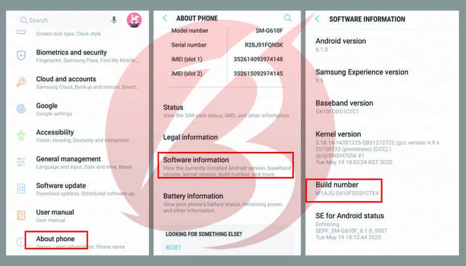 فعال سازی حالت USB DEBUGGING در گوشی های اندرویدی در گوشی سامسونگ