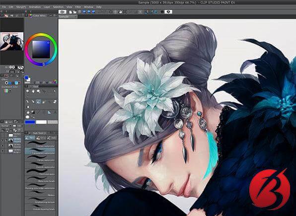 نرم افزار های نقاشی دیجیتالی برای کامپیوتر - نرم افزارClip Studio Paint