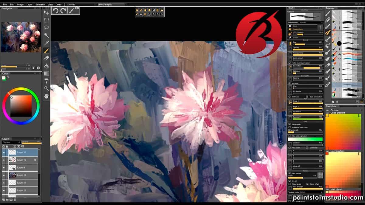 نرم افزار های نقاشی دیجیتالی برای کامپیوتر - نرم افزارPaintstorm Studio