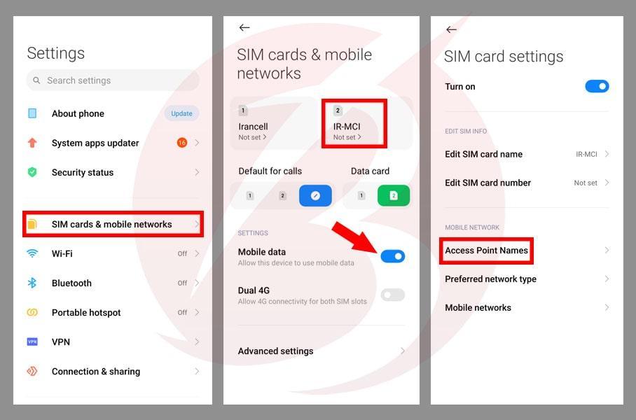 حل مشکل عدم اتصال گوشی های شیائومی به اینترنت - بررسی APN