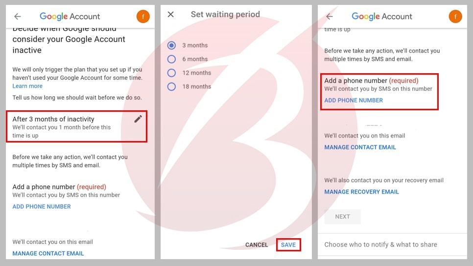حذف اکانت گوگل بعد از مرگ در چند ثانیه