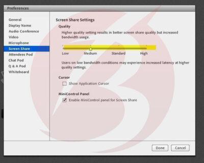 رفع مشکل تصویر در ادوبی کانکت و وب کم متصل به ادوبی کانکت