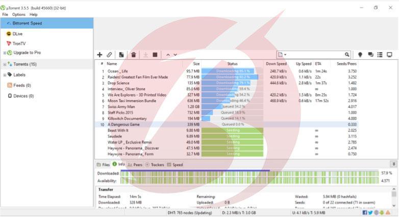 نرم افزار های دانلود از تورنت - نرم افزار uTorrent